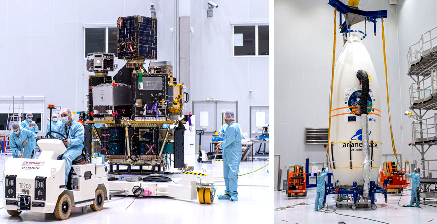 Satellites are integrated into the SSMS module (image: Arianespace)